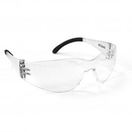 Transparent plastic safety glasses