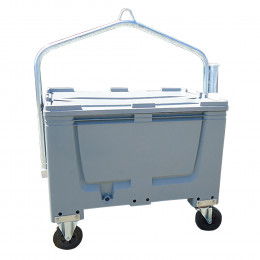 Four-wheel polyethylene carcass container