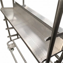 Chilling trolley with racks
