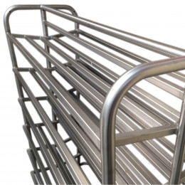 Tubular chilling trolley