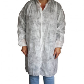 Disposable lab coat - case of 50 units